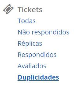 Menu Tickets