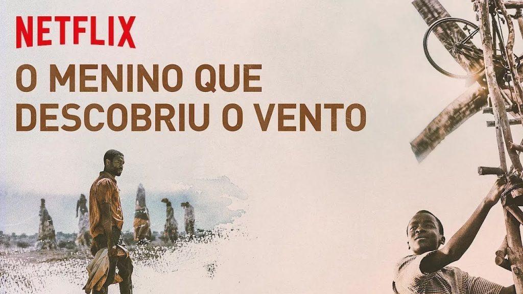Banner horizontal que se refere ao filme O menino que descobriu o vento.